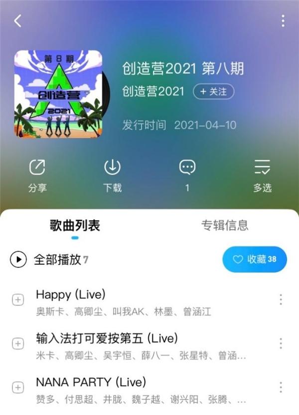 《创造营2021》米卡壁咚鞠婧祎 斩获酷狗专区TOP1