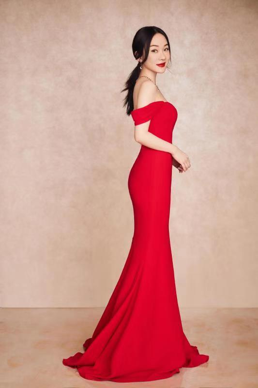 霍思燕红色鱼尾裙.jpg