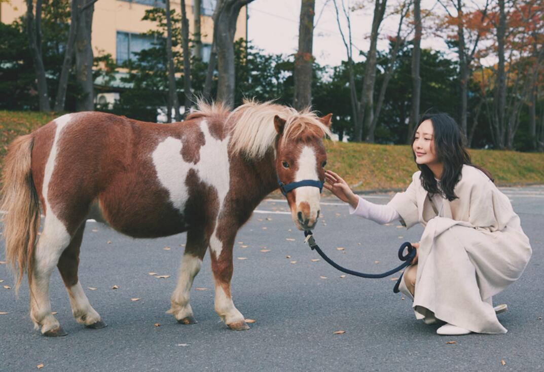 王鸥与可爱的小马驹.jpg